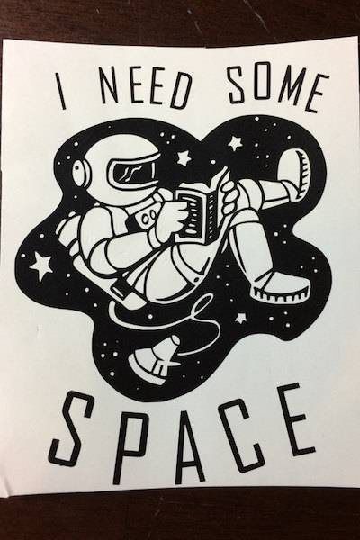 Books in Space! Reading Astronaut Sticker