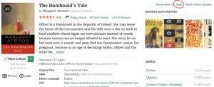 Goodreads - The Handmaid's Tale