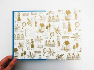 Endpapers of the Anne of Green Gables Puffin in Bloom edition