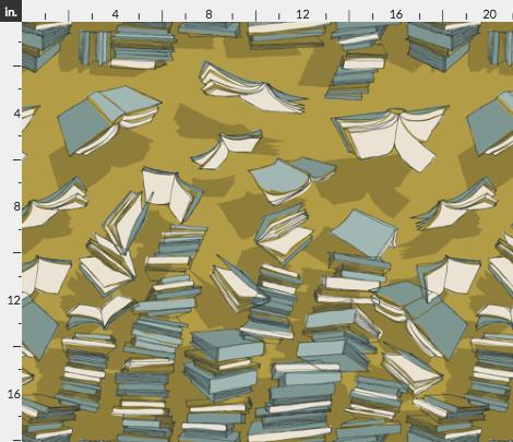 Fabric Flying Books