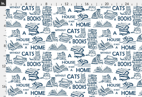Fabric Home is Books and Cats