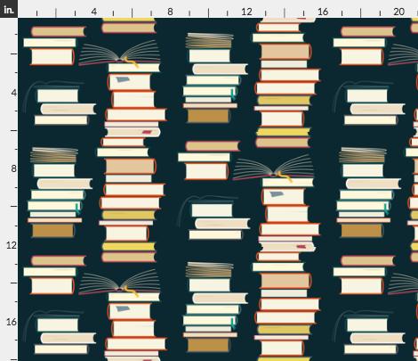 Fabric Stacks of Books