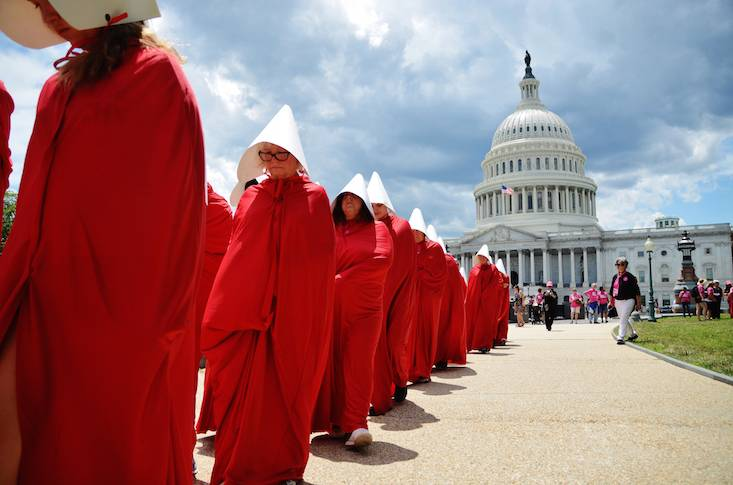Image result for the handmaids tale protest