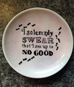 I Solemnly Swear That I Am Up To No Good Trinket Dish