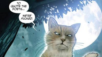 Monstress Cat Quoting The Poets