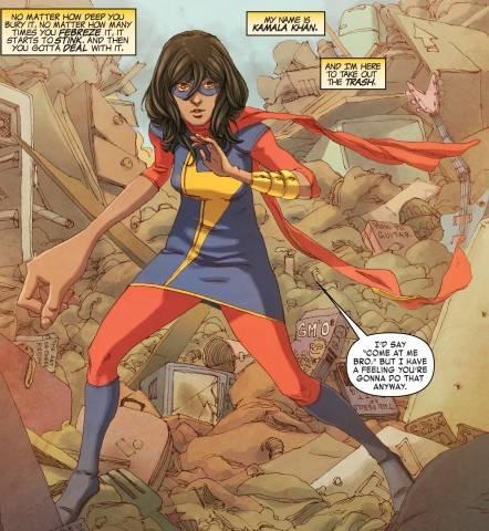 Kamala Khan as Ms Marvel Embiggens