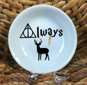 Always, Deathly Hallows, and Stag Ring Dish