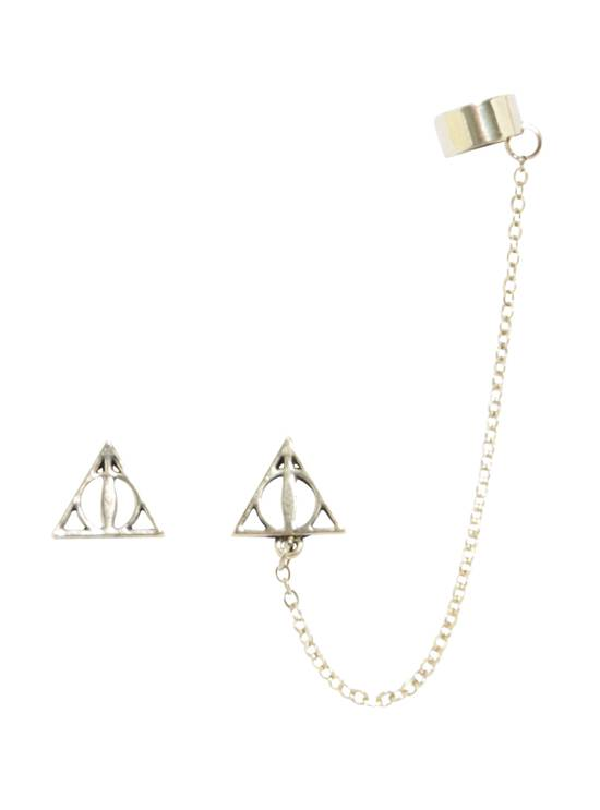 Deathly Hallows Cuff Earrings