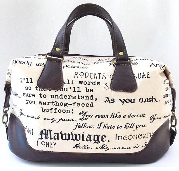 Princess Bride Overnight Bag From 10 of Etsy's Fanciest Book-Inspired Bags | BookRiot.com