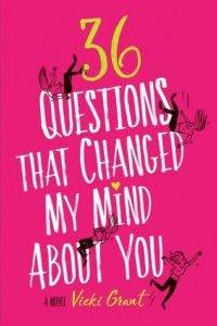 36 questions that changed my mind about you book cover vicki grant