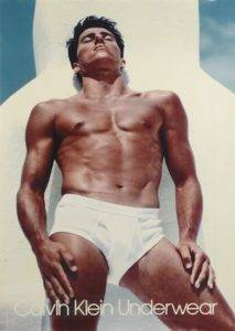Thomas Hintnaus in the first Calvin Klein underwear ad