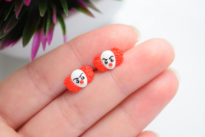 Pennywise Earrings From Stephen King Jewelry to Rock in October