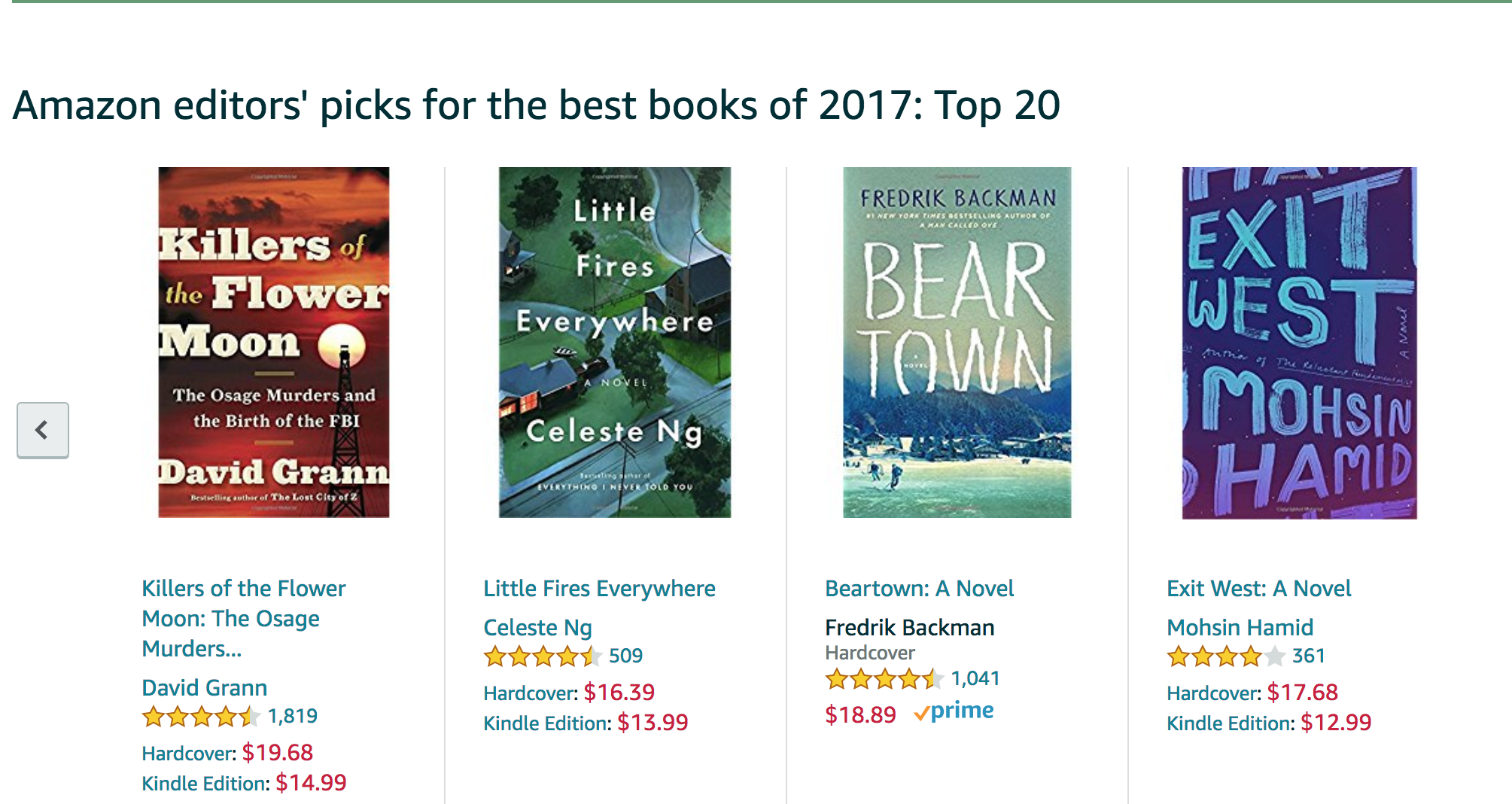 Amazon's Best Books of 2017: Critical Linking, November 10