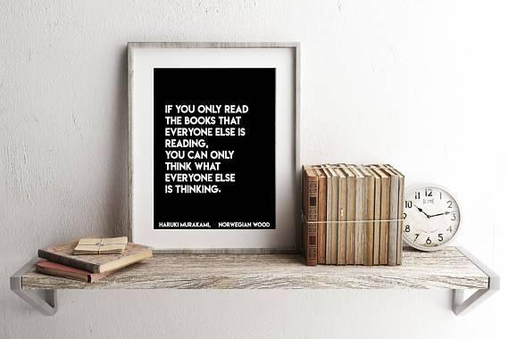 haruki murakami quote poster