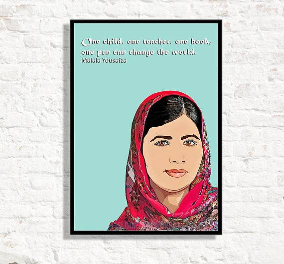 malala quote poster
