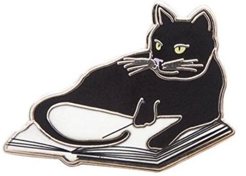 Book Cat Enamel Pin