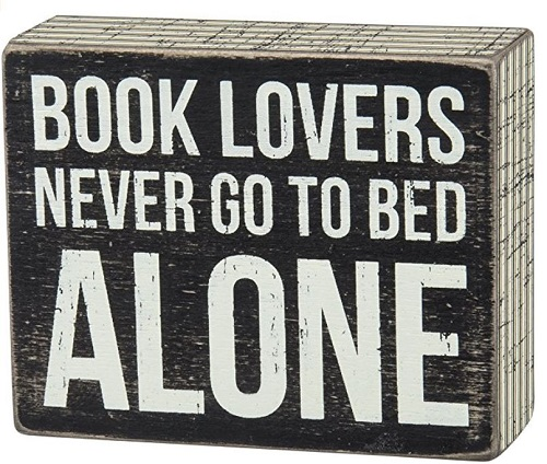 Book Lovers Sign