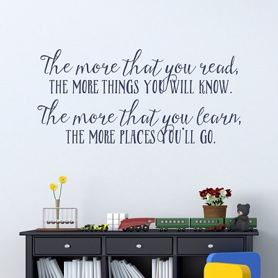 More You Know Wall Decal