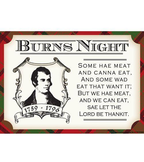 Burns Night Selkirk Grace Poem | Bookriot.com