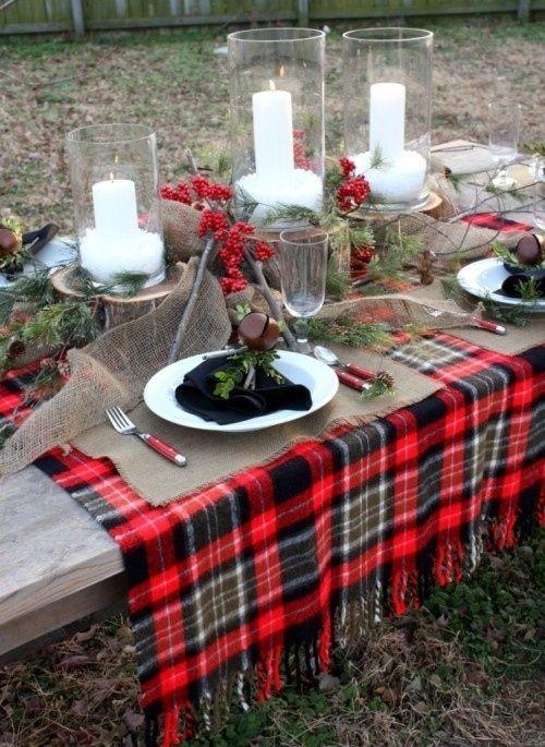Burns Night table setting au naturelle | Bookriot.com