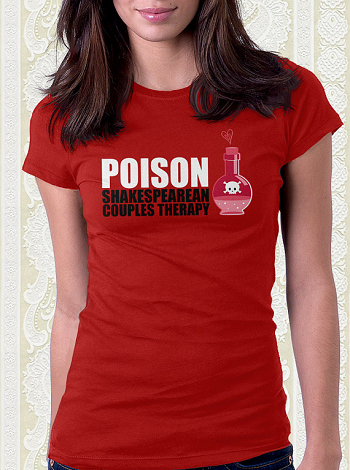 poison shakespearean couples therapy tshirt romeo and juliet