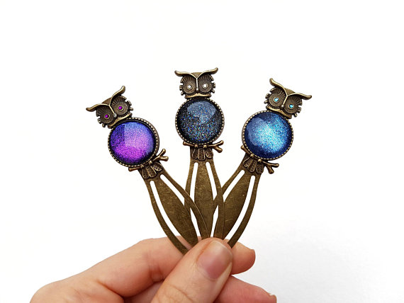 Owl clip bookmark, Metal bookmarks │Book Riot