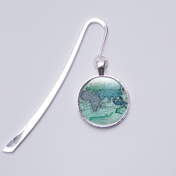 Map charm bookmark, Metal bookmarks │Book Riot