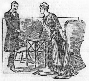 Watson and Mary Morstan in The Sign of the Four