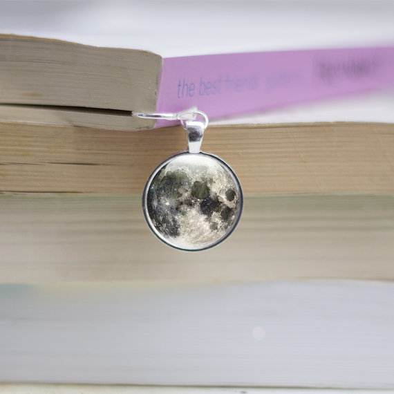 Full moon charm bookmark,Metal bookmarks │Book Riot