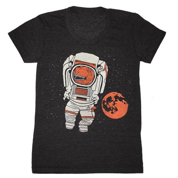 dinosaur astronaut t-shirt