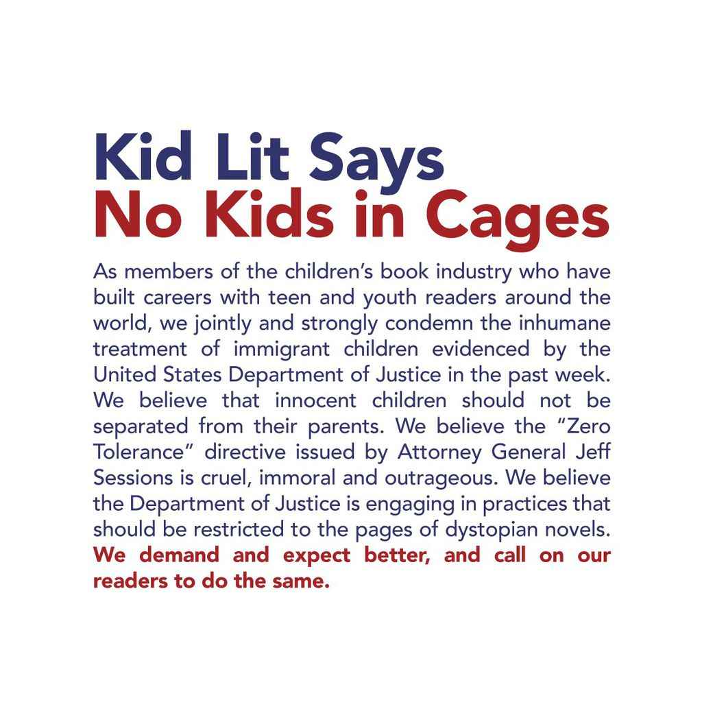 Kid Lit Says No Kids in Cages campaign image