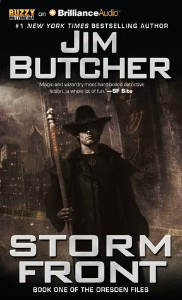 Storm Front by Jim Butcher audiobook cover