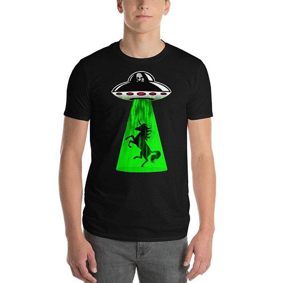 unicorn abduction t-shirt