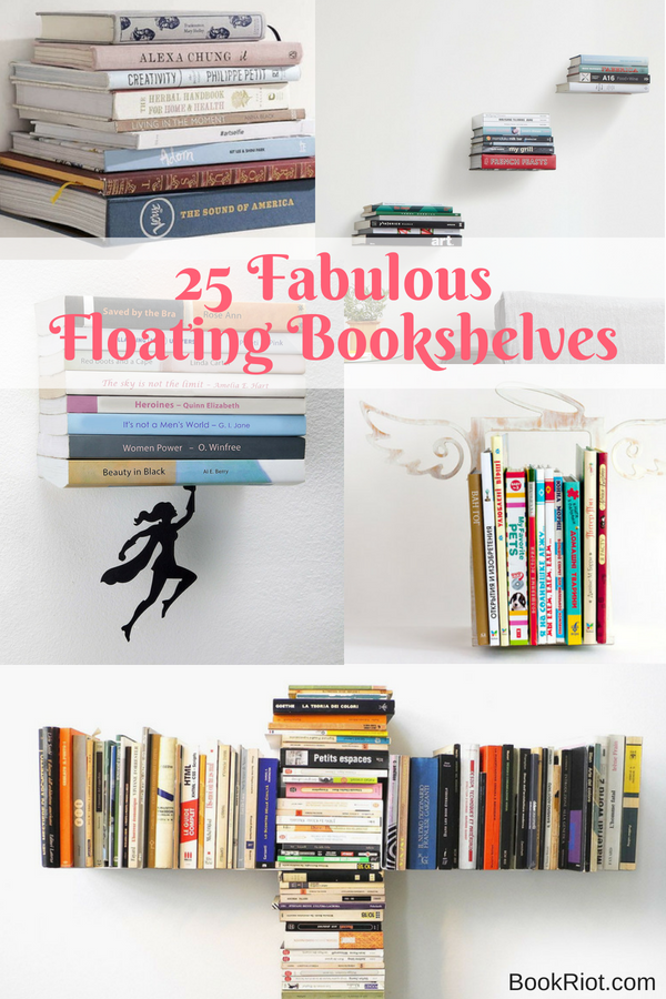 25 Fabulous Floating Bookshelves For Your Home   BookRiot.com