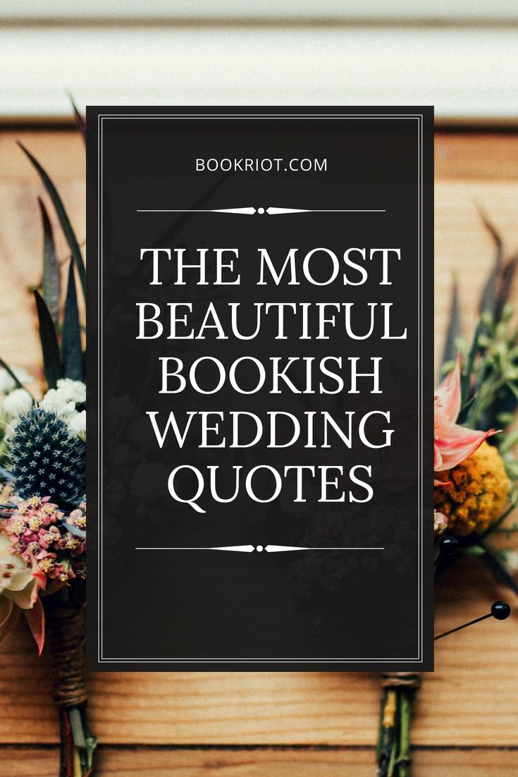 Beautiful bookish wedding quotes
