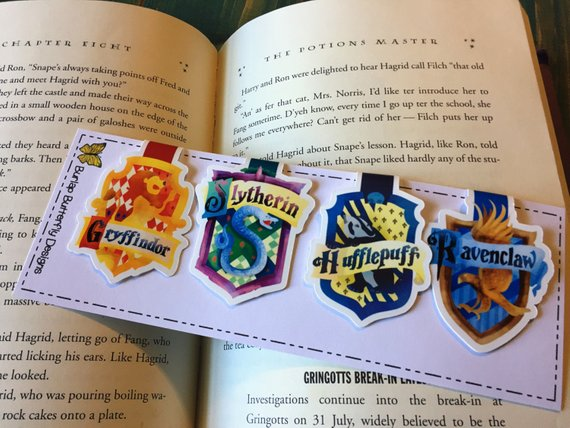 Hogwarts House Crest magnetic bookmarks