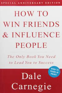How to Win Friends and Influence People by Dale Carnegie book cover