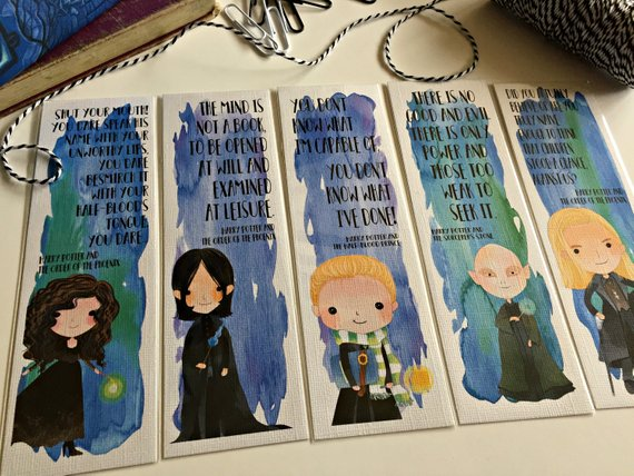 LeStrange Snape Malfoys and Voldemort quote bookmarks