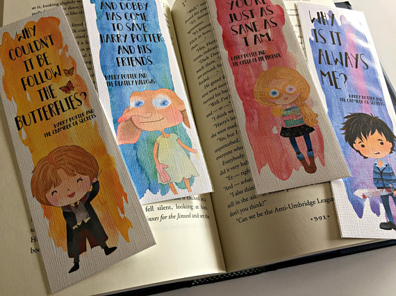 Ron Dobby Luna and Neville quote bookmarks