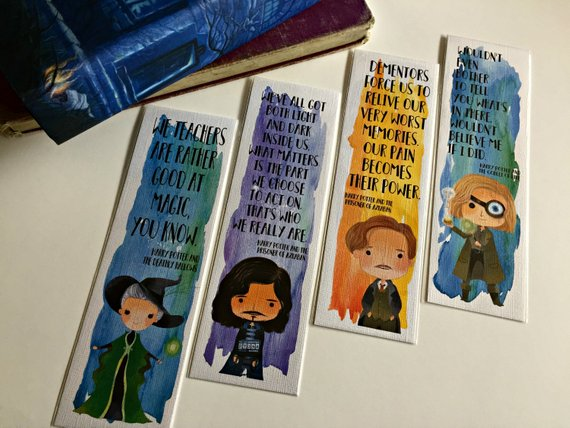 mcgonagall black lupin and moody quote character bookmarks