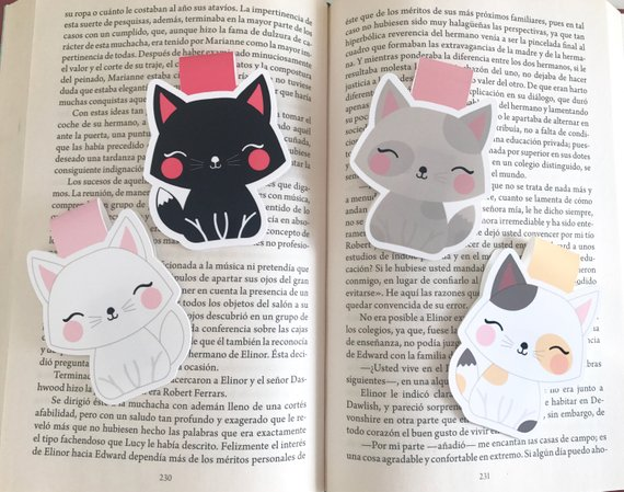 Cute Cats Magnetic Bookmark