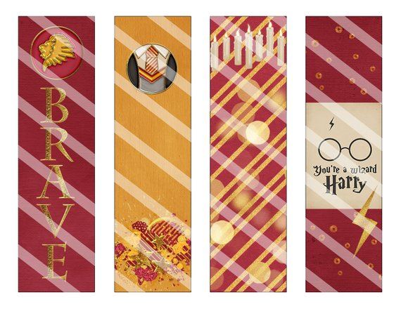 Gryffindor printable bookmarks by Vanilla Bean Crafts