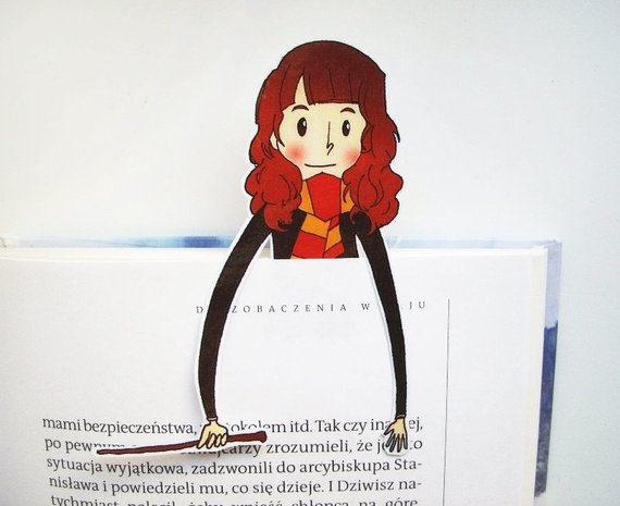 Hermione Printable Bookmark by BigNerdWolf
