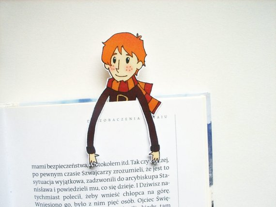 Ron Weasley Printable Bookmark by BigNerdWolf