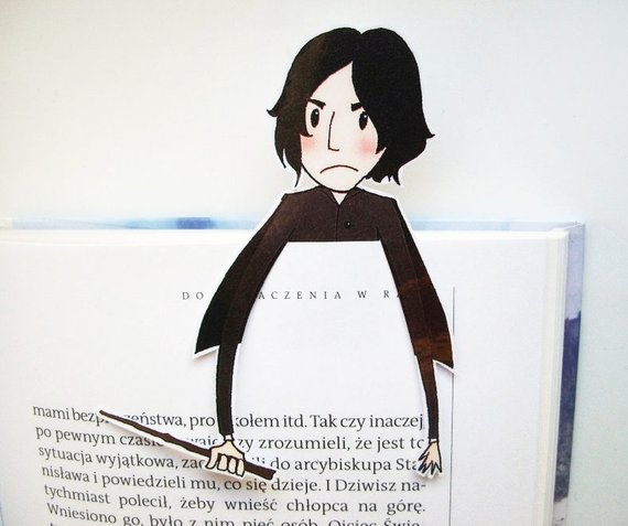 Snape Printable Bookmark by BigNerdWolf