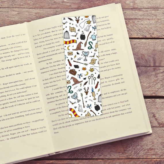 Wizarding Objects Printable Bookmarks by Swish and Flick Company