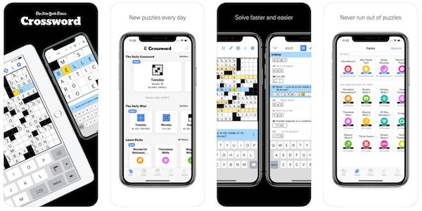 New York Times crossword game app screenshot