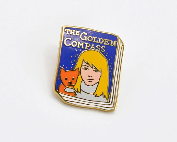 Golden Compass enamel pin