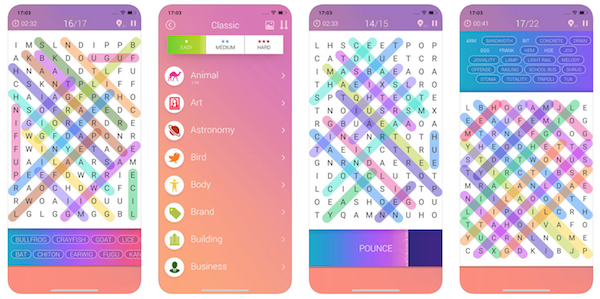 Word Search Pro game app screenshot
