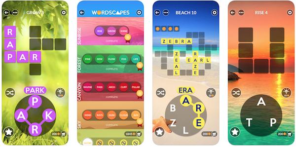 Wordscapes game app screenshot